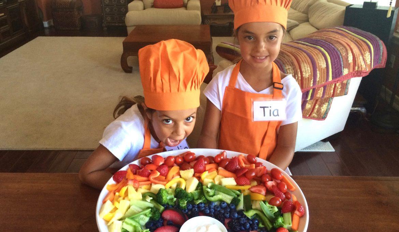 Rainbow Fruit & Veggie Plate